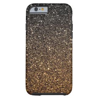 Brilho do falso de Ombre do ouro Capa Para iPhone 6 Tough