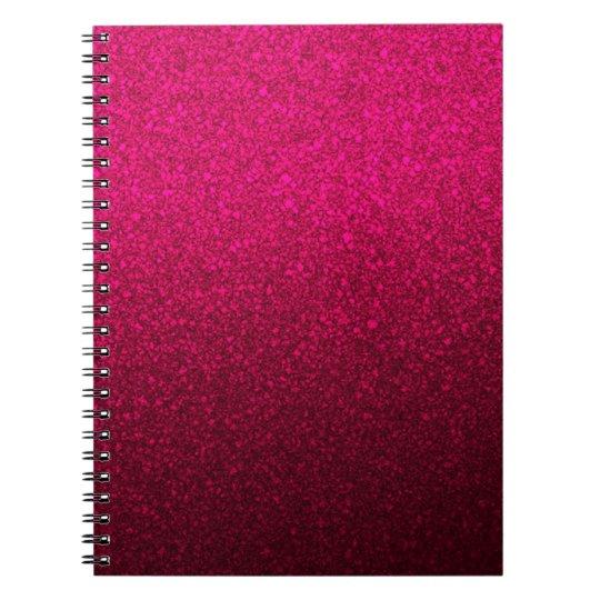 Brilho do rosa quente caderno