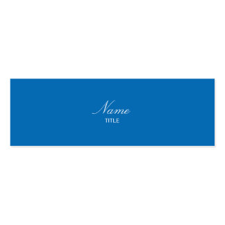 Brilho Elegante pequeno azul Cartão De Visita Skinny