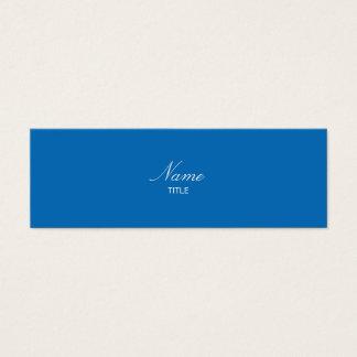Brilho Elegante pequeno azul Cartão De Visitas Mini