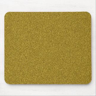 Brilho feminino fashinable bonito do ouro amarelo mouse pad