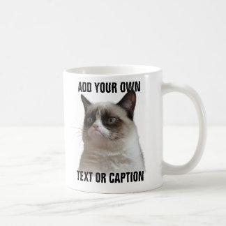 Brilho mal-humorado do gato - adicione seu próprio canecas