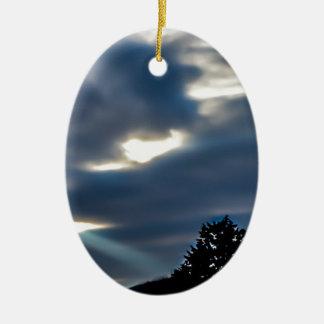 Brilho Ornamento De Cerâmica Oval