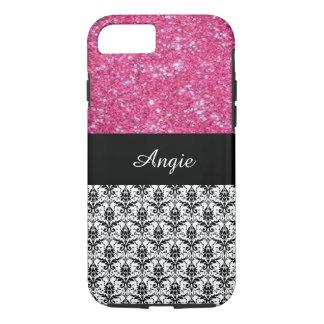 Brilho personalizado do rosa da tendência & capa iPhone 7