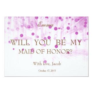Brilho roxo você será minha MADRINHA DE CASAMENTO Convite 12.7 X 17.78cm