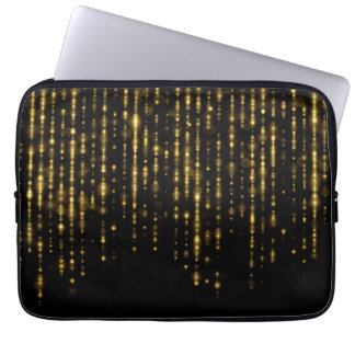 Brilho & sparkles Glam do ouro Sleeve Para Laptop