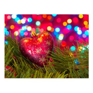 brinquedo Coração-dado forma Cartão Postal