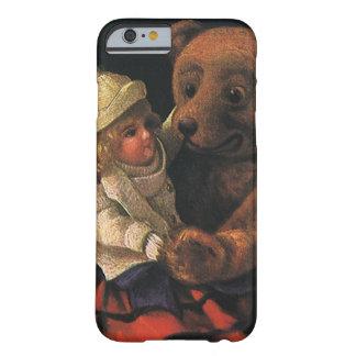 Brinquedos do natal vintage, boneca e um urso de capa barely there para iPhone 6