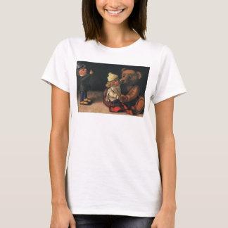Brinquedos do natal vintage, boneca e um urso de tshirt