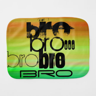 Bro; Verde, alaranjado vibrantes, & amarelo Paninho De Boca