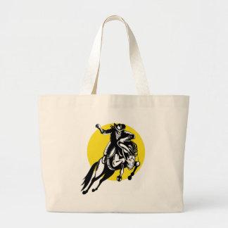 bronco bucking do cavalo da equitação do vaqueiro  bolsa para compras