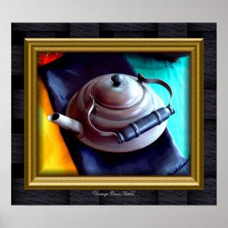 'Bronze Kettle do vintage Pôster