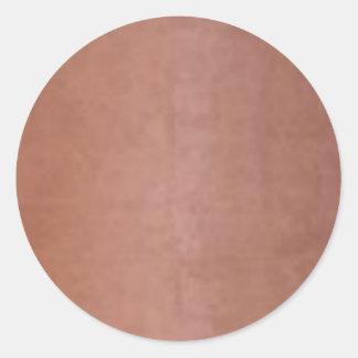 Brown de cobre dourado liso adesivo em formato redondo