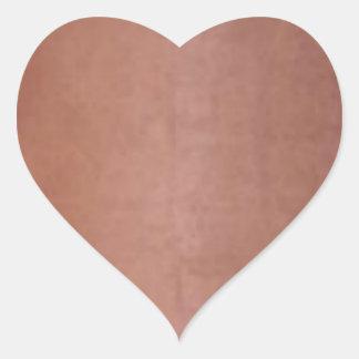 Brown de cobre dourado liso adesivos em forma de corações