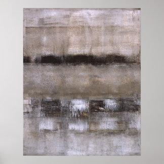 Brown e poster bege da arte abstracta