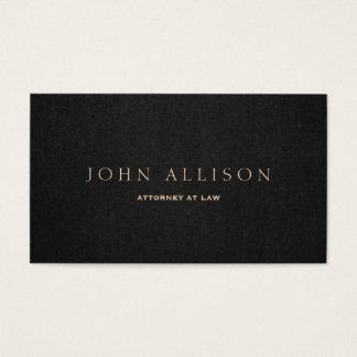 Brown escuro profissional elegante cartão de visita