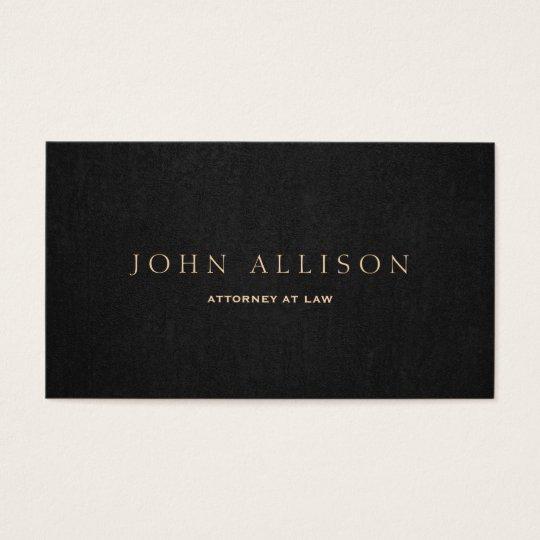 Brown escuro profissional elegante cartão de visitas