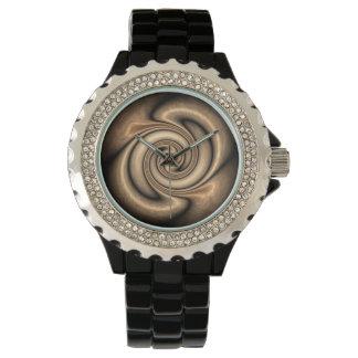 Brown moderno e relógio bege do abstrato do