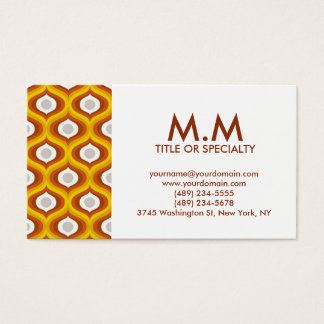 Brown orient modern cartão de visitas