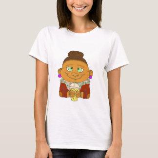 Brunet do hipster/do macaco camisetas