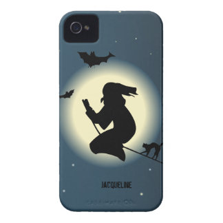 Bruxa bonito do Dia das Bruxas no caso de Blackber Capas iPhone 4 Case-Mate
