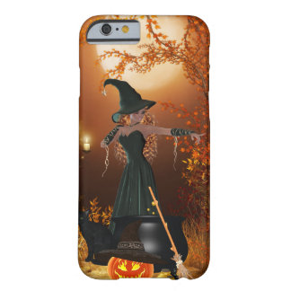 Bruxa do Dia das Bruxas do outono Capa iPhone 6 Barely There