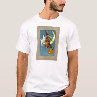 Bruxa do Dia das Bruxas do vintage Camisetas