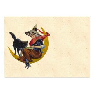 Bruxa do Dia das Bruxas do vintage Cartão De Visita Grande