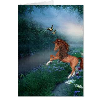 bucking do cavalo cartão comemorativo