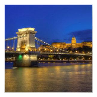 Budapest, Hungria Convite Quadrado 13.35 X 13.35cm