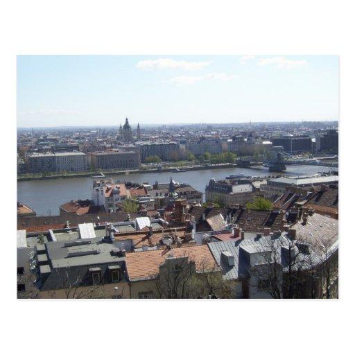 Budapest Hungria Danube River Cartoes Postais