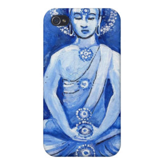 Buddha azul iPhone 4 capa
