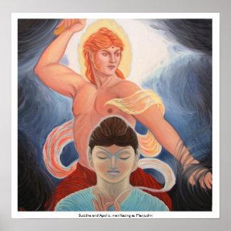 Buddha e Apollo, manifestando como Manjushri Impressão