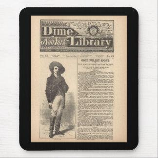 Buffalo Bill - biblioteca 1879 da moeda de dez cen Mousepad
