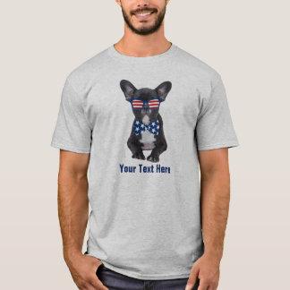 Buldogue francês engraçado 4o julho EUA feito sob Tshirt