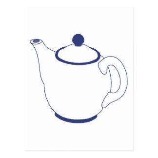 Bule azul e branco cartão postal