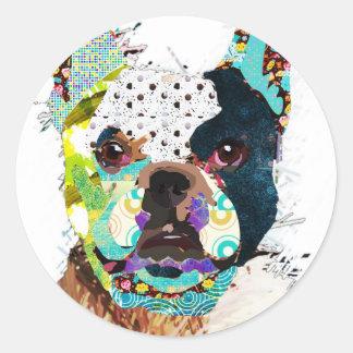 bulldog1 jpg adesivo em formato redondo