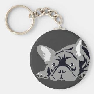 Bulldog francês porta-chaves chaveiro