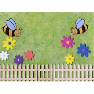 Bumble a imagem ereta da abelha escultura foto