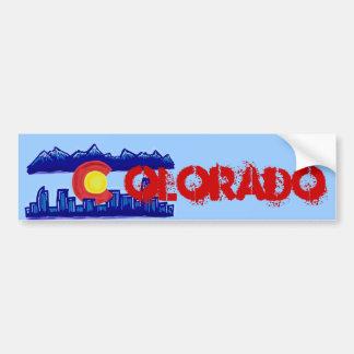 Bumpersticker da skyline de Colorado Adesivo Para Carro