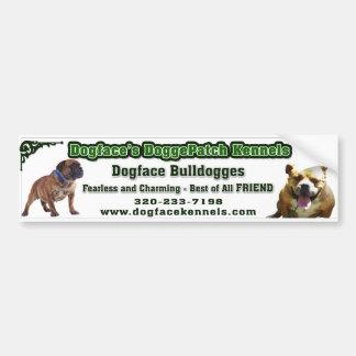 Bumpersticker de Dogface Adesivo Para Carro