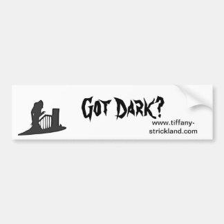 bumpersticker escuro obtido adesivo para carro
