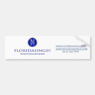 bumpersticker floridasing adesivo para carro