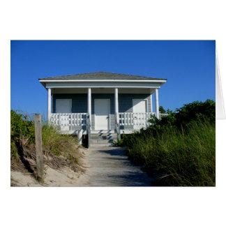 bungalow da praia cartão de nota