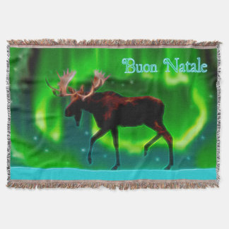Buon Natale - alce da aurora boreal Manta