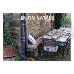 BUON NATALE - NATAL ITALIANO CARTÃO COMEMORATIVO