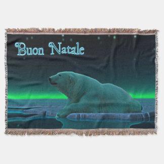 Buon Natale - urso polar da borda do gelo Coberta