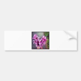 buquê dado forma coração da flor adesivo para carro