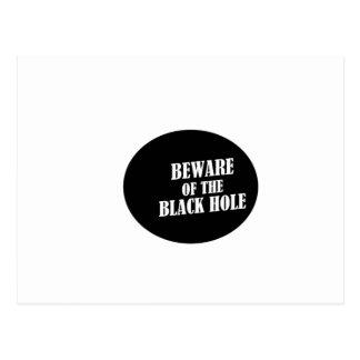 buraco negro cartão postal