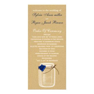 burla, programa do casamento do frasco de pedreiro 10.16 x 22.86cm panfleto